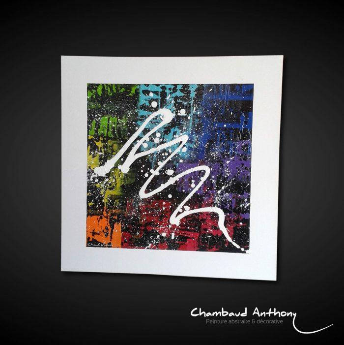 Peinture abstrait couleur