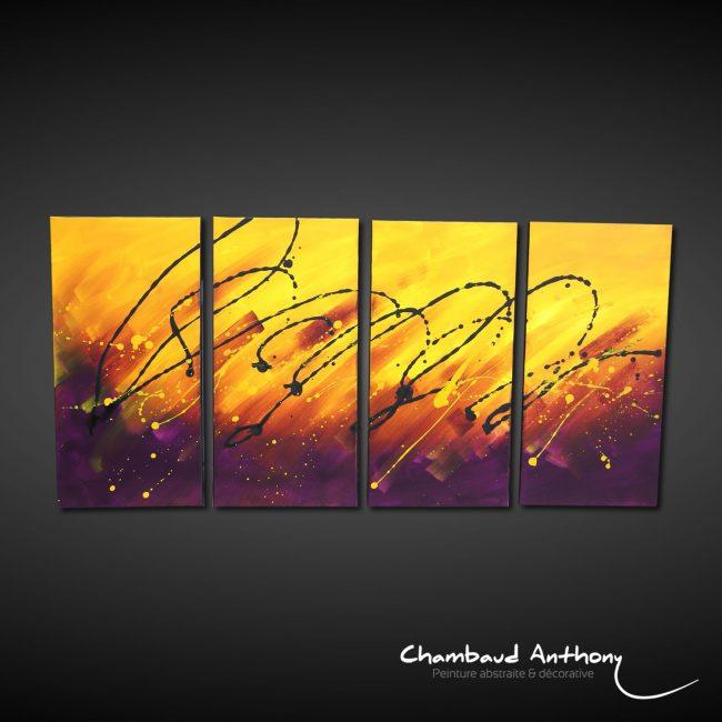 tableau-violet-jaune-moderne
