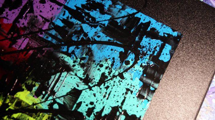 Tableau flashy, tableau multicolor