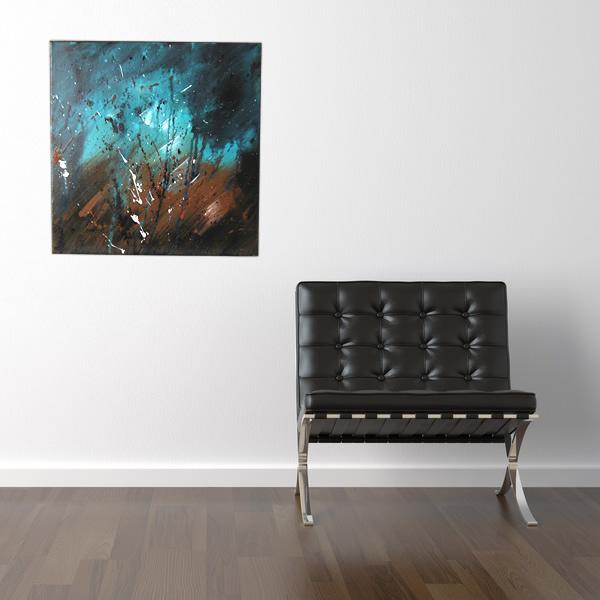 Tableau-marron-turquoise