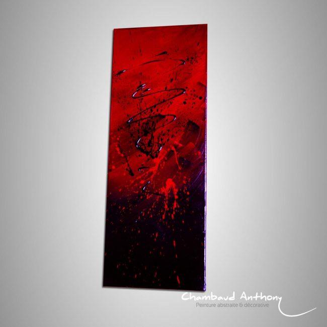 tableau rouge carmin