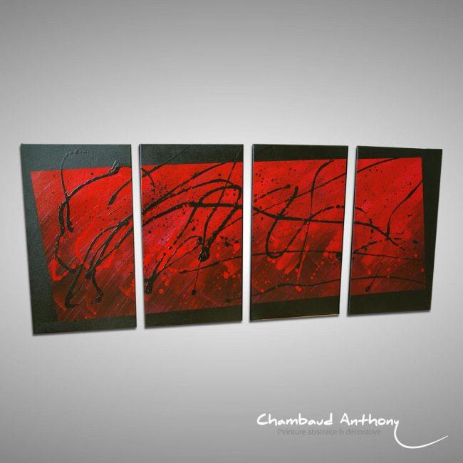 quadriptyque rouge