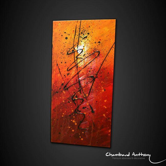 Tableau orange rouge