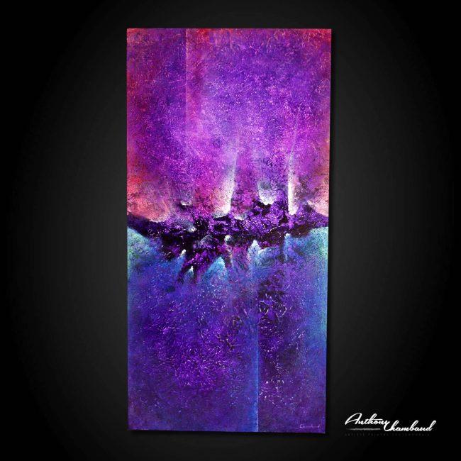 tableau-violet-bleu-sur-bois