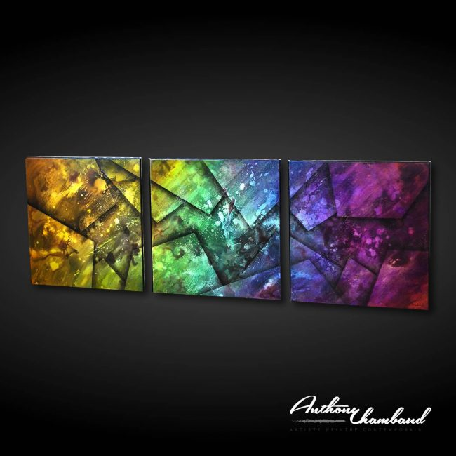 Tableau flashy multicolore