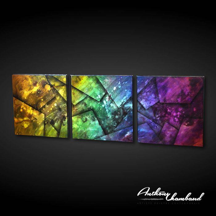 Tableau flashy multicolore