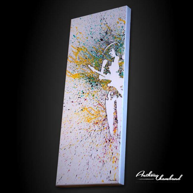 Tableau Jimi Hendrix hauteur en couleur, Peinture Jimi Hendrix