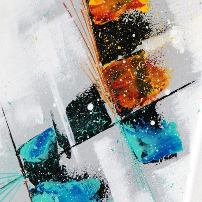 tableau multicolore en hauteur