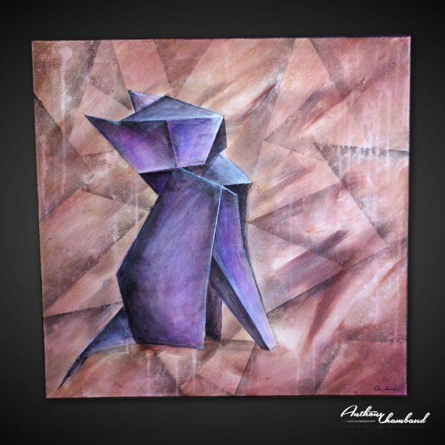 tableau-cubisme-chat-cubiste