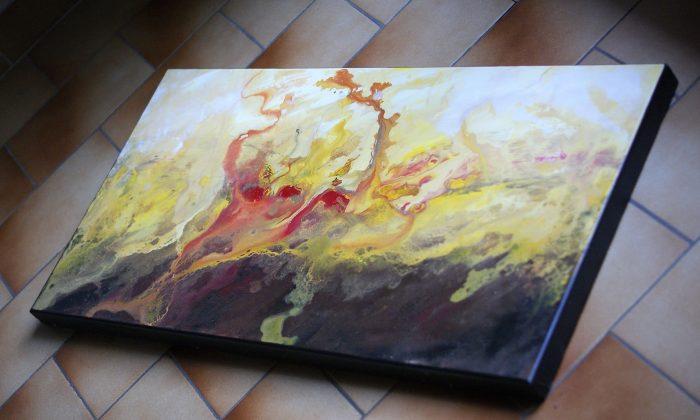 tableau-marron-jaune