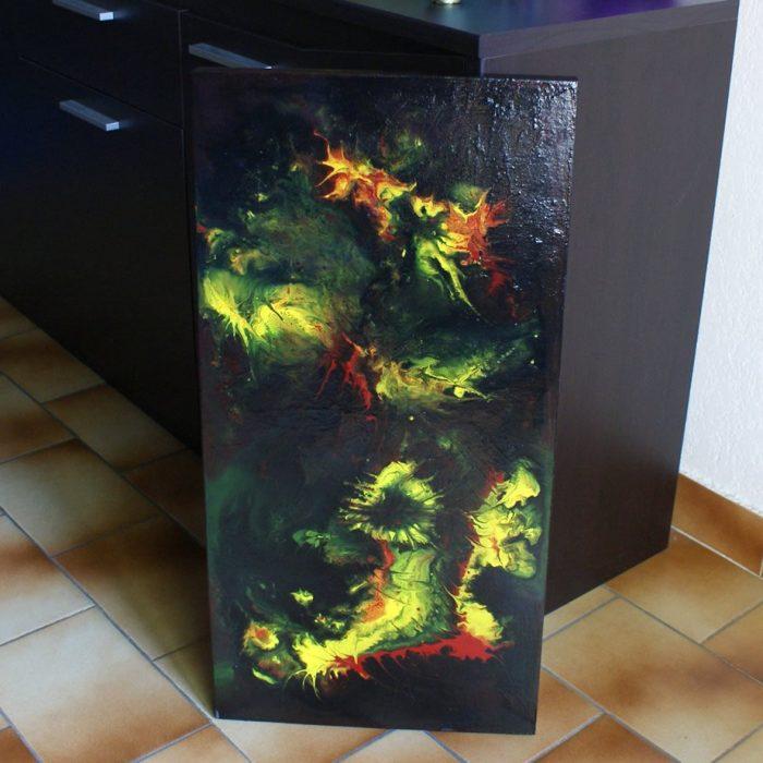 tableau peinture liquide