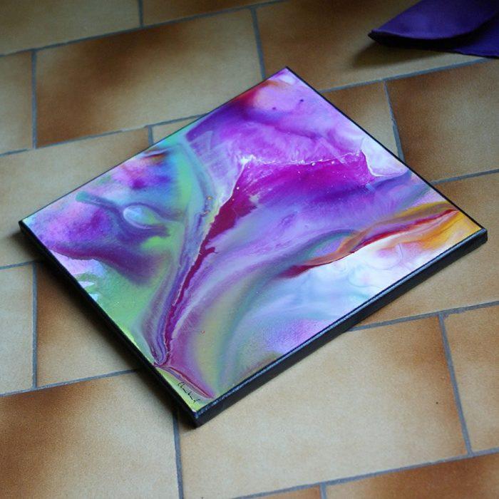 Tableau coloré carré 40cm