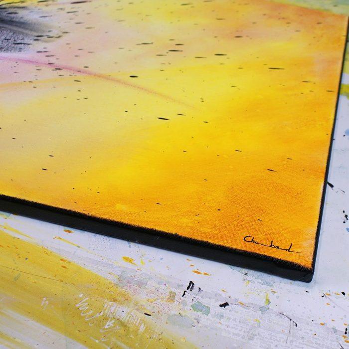 tableau rouge et jaune
