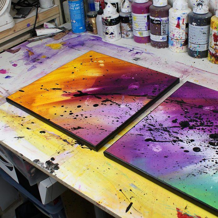 tableau coloré, tableau mutlicolore