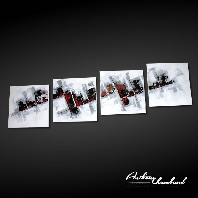tableau rouge et noir