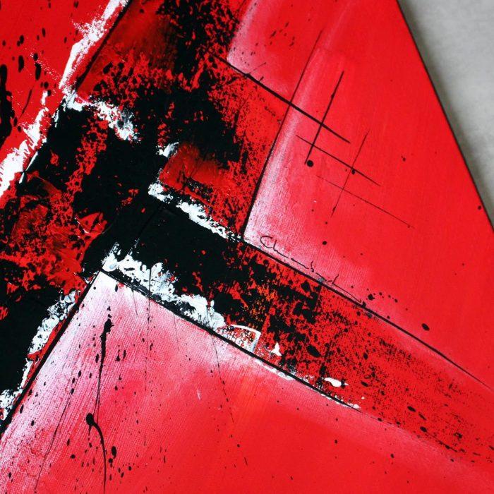Tableau rouge Rausvas 4