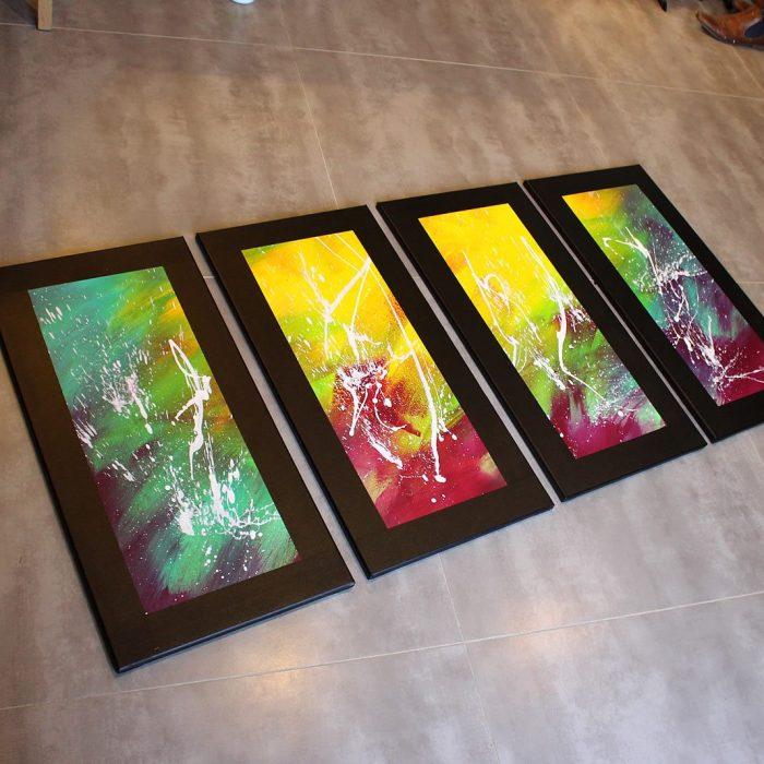 Tableau flashy plein de couleurs