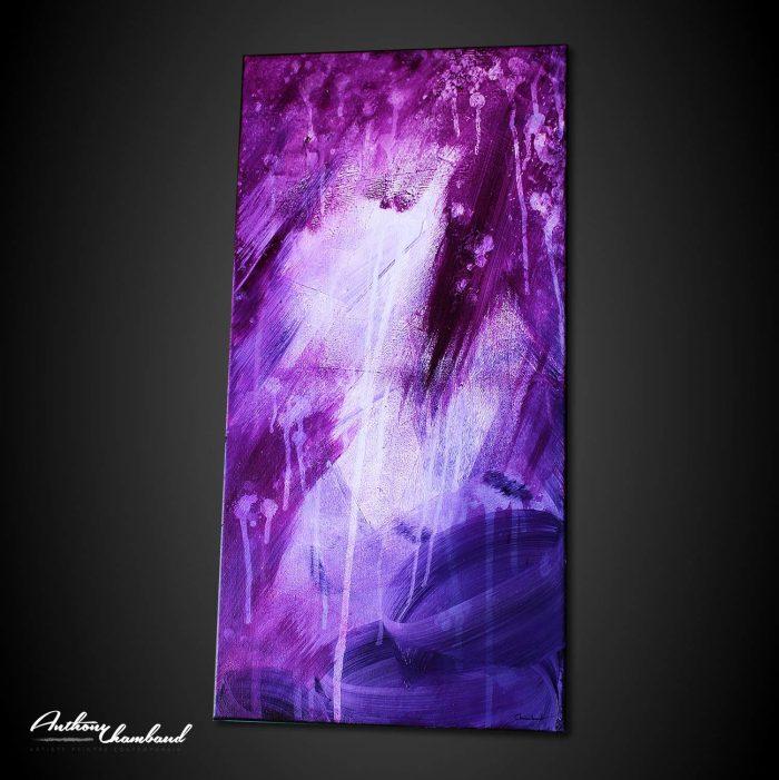 Tableau violet et pourpre