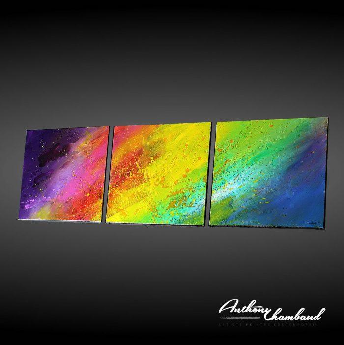 Tableau moderne et coloré