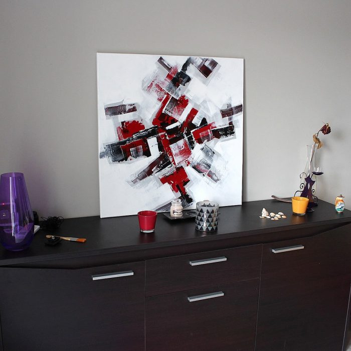 Grand tableau rouge