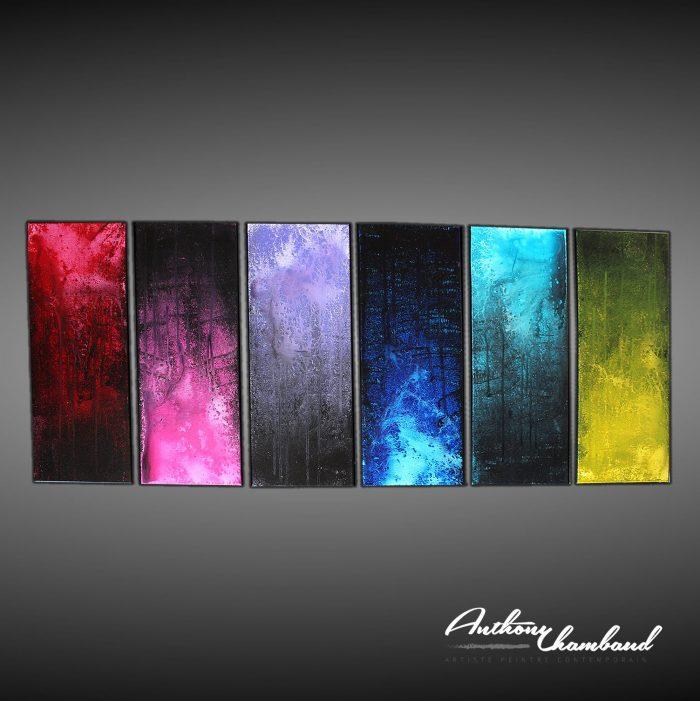 Grand tableau deco artiste peintre abstrait