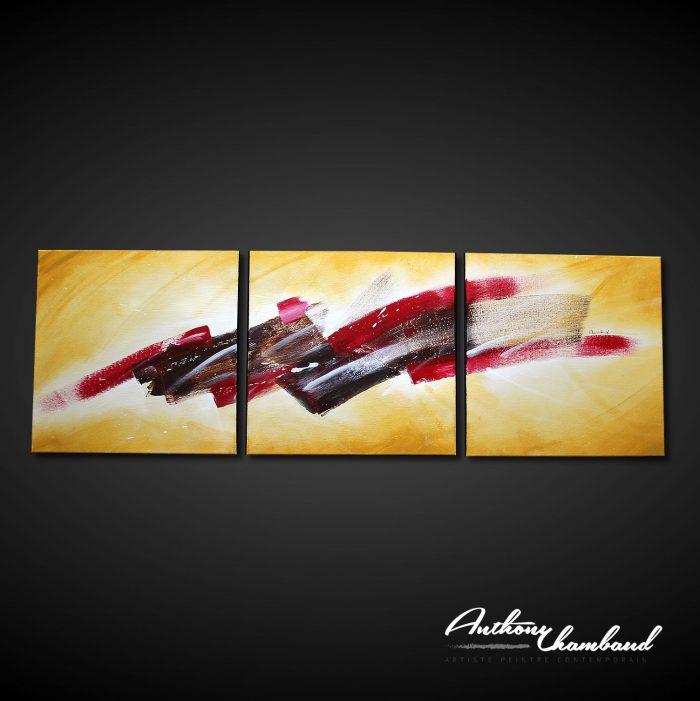 acheter tableau couleur rouge, ocre, rouge et noir