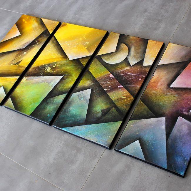 tableau grand format très coloré