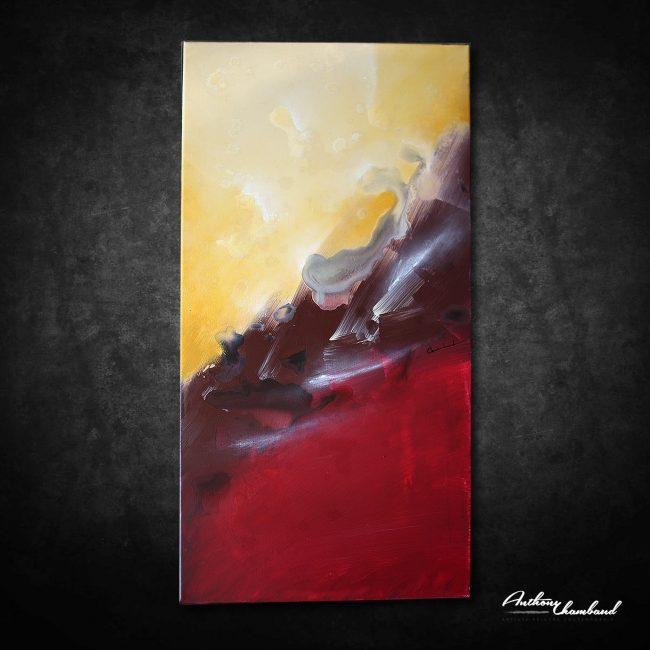 tableau rouge moderne