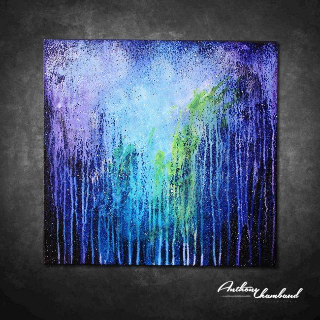 Tableau bleu & violet Resor