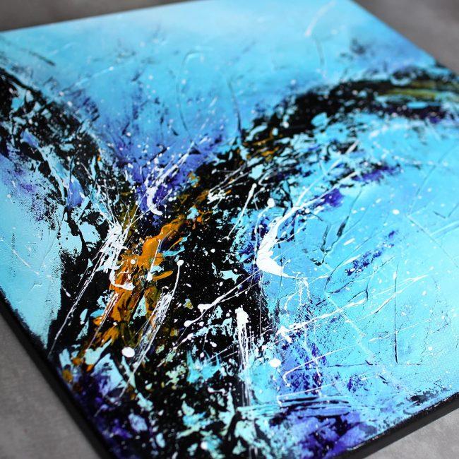 Tableau bleu & violet Liustik