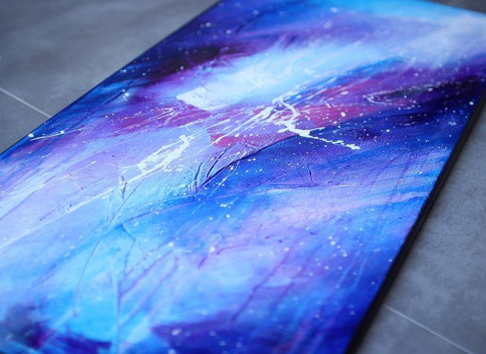 Tableau violet et bleu Ajatu