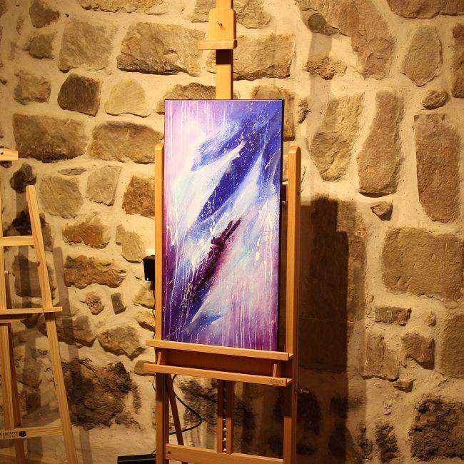 Tableau bleu & violet Shledanni