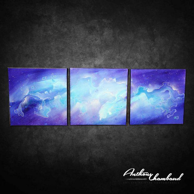 Tableau violet bleu