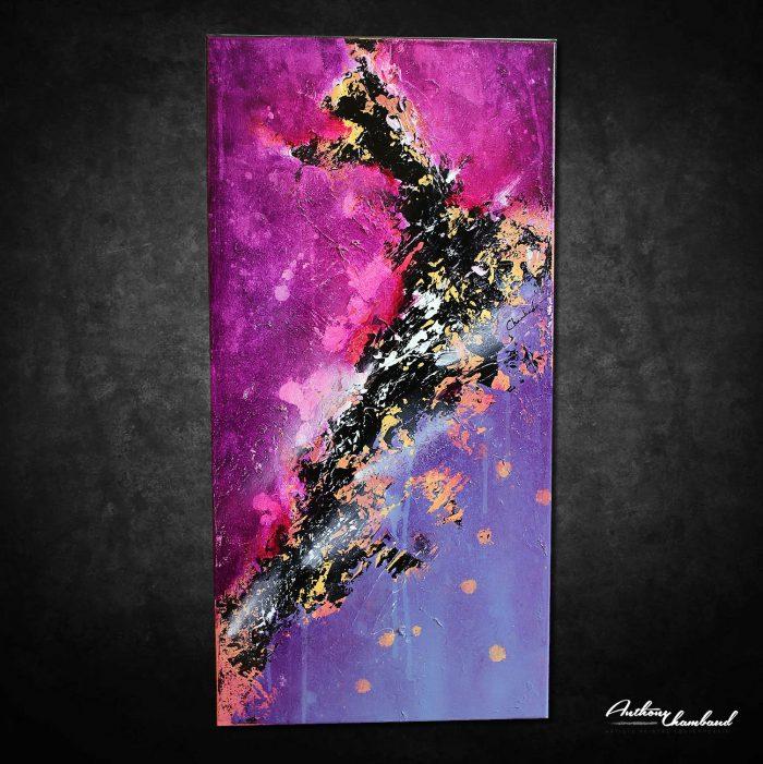 Tableau violet et bleu moderne