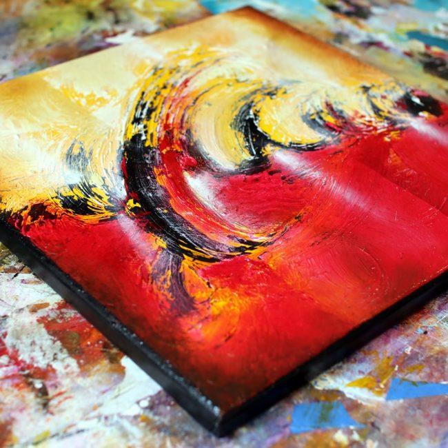 tableau rouge abstraite