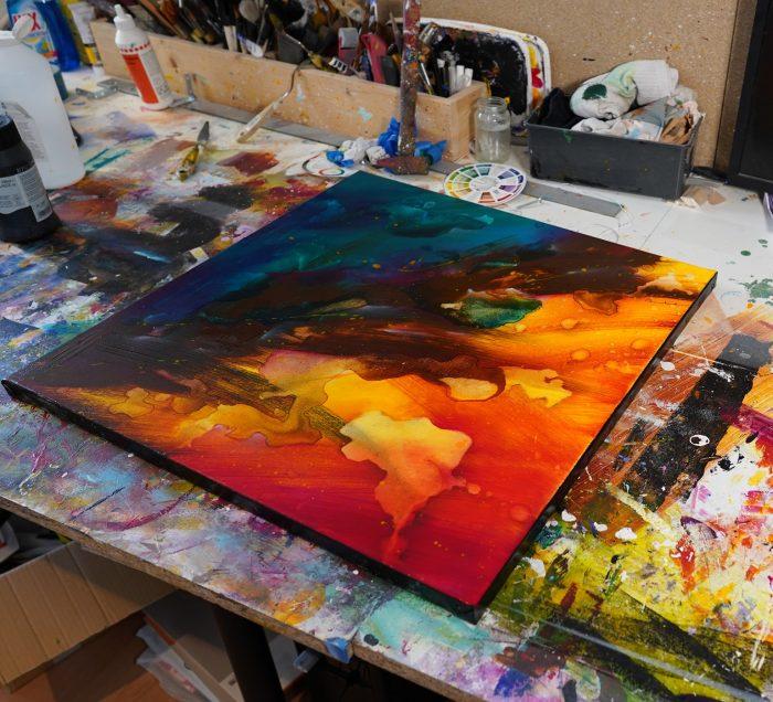 Peinture abstraite Yurenai