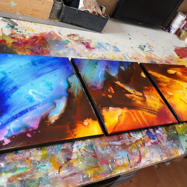 Peinture abstraite Chikyuoyui