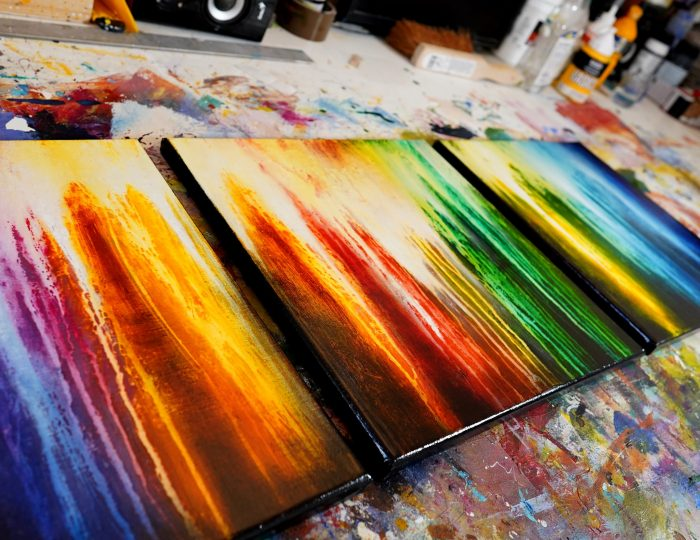 Peinture abstraite Kiokur 4