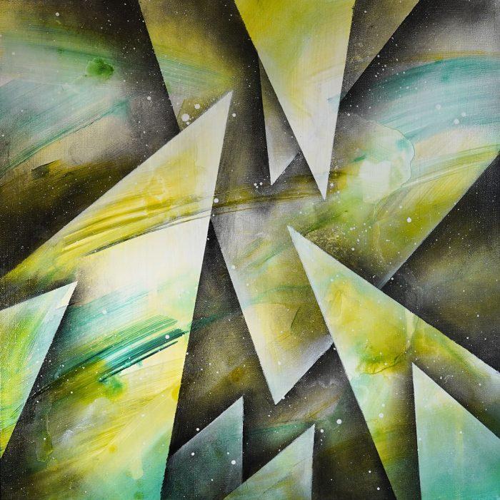 tableau vert moderne